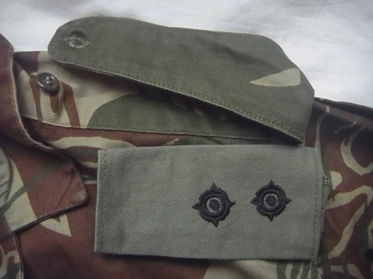 実物 ローデシア軍 初付け中尉階級章付き迷彩長袖コンバットシャツ 良サイズ 南アフリカ 特殊部隊 セルーススカウト SAS RECCE 32大隊 PMC_画像5