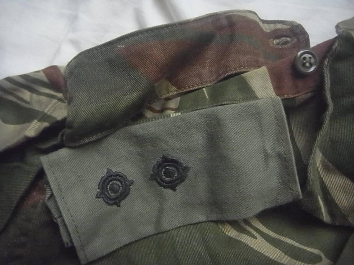 実物 ローデシア軍 初付け中尉階級章付き迷彩長袖コンバットシャツ 良サイズ 南アフリカ 特殊部隊 セルーススカウト SAS RECCE 32大隊 PMC_画像7