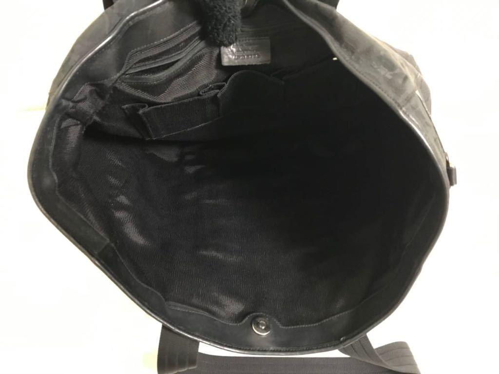 本物サルバトーレフェラガモFERRAGAMOガンチーニ本革レザーキャンバスデカビッグトートボストンバッグビジネスバック旅行黒ブラックメンズ