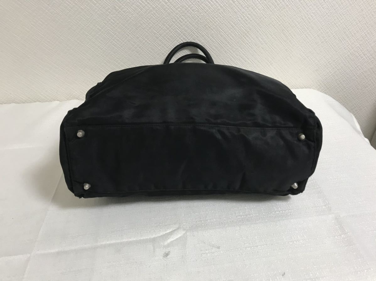 本物プラダPRADAナイロンビジネストートバッグボストンハンドバック旅行トラベル黒ブラックメンズレディース