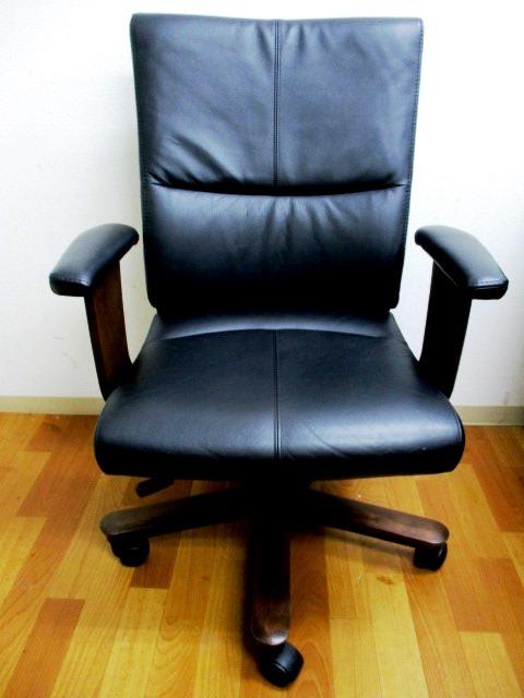 カリモク デスクチェア チェア XT5800K001 MADE IN JAPAN 椅子 高級 役員 エグゼクティブ チェア 総革 書斎椅子 極美品です