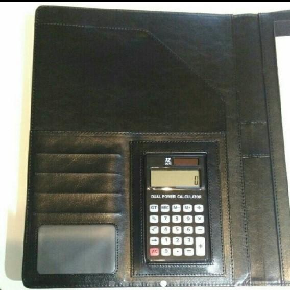 電卓付 バインダー ファイル クリップファイル