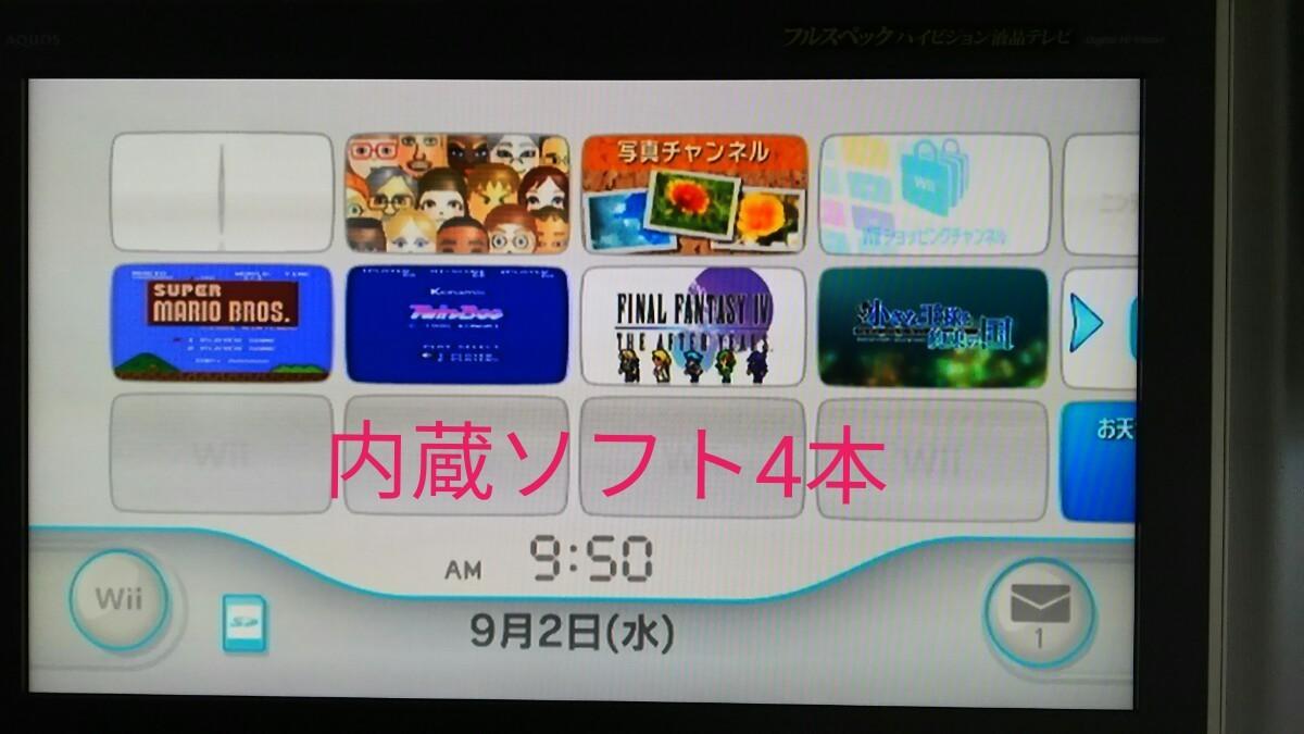 Wii 本体のみ ダウンロードソフト付き 注:読み込み不良