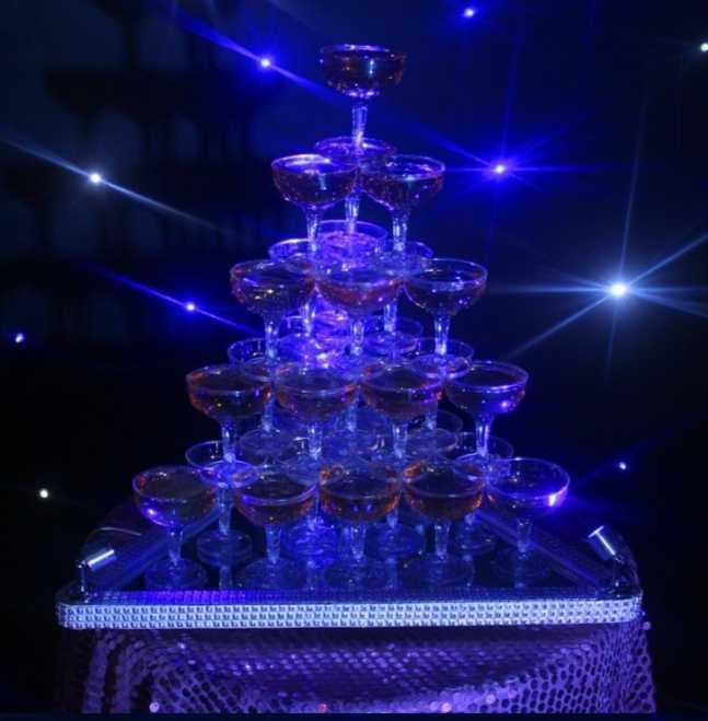 7段 シャンパンタワー グラス 84個 セットLed トランプタワー シャンパン ライト キャバクラ ホスト CLUB パーティー アルマンド 結婚式_画像2