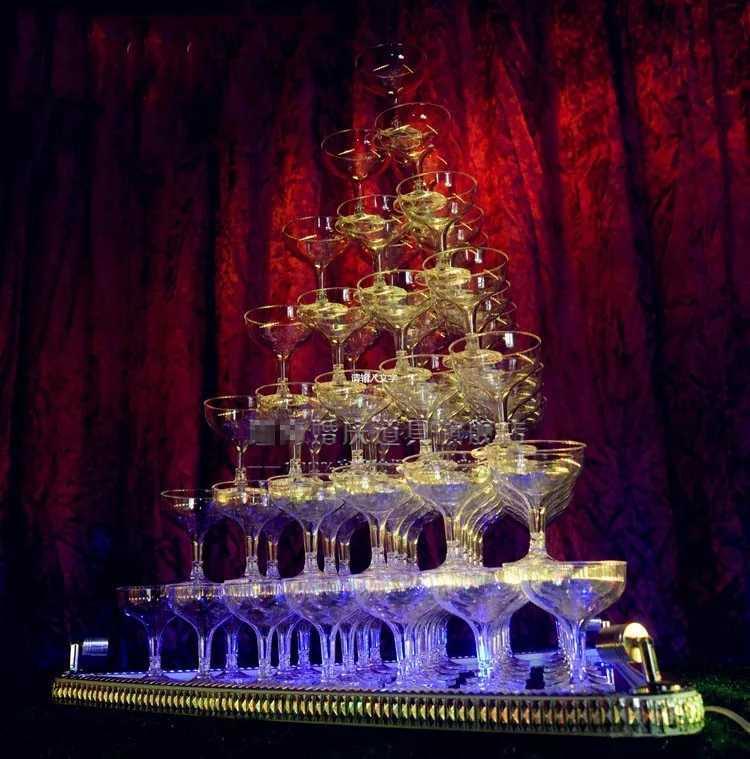 7段 シャンパンタワー グラス 84個 セットLed トランプタワー シャンパン ライト キャバクラ ホスト CLUB パーティー アルマンド 結婚式_画像1