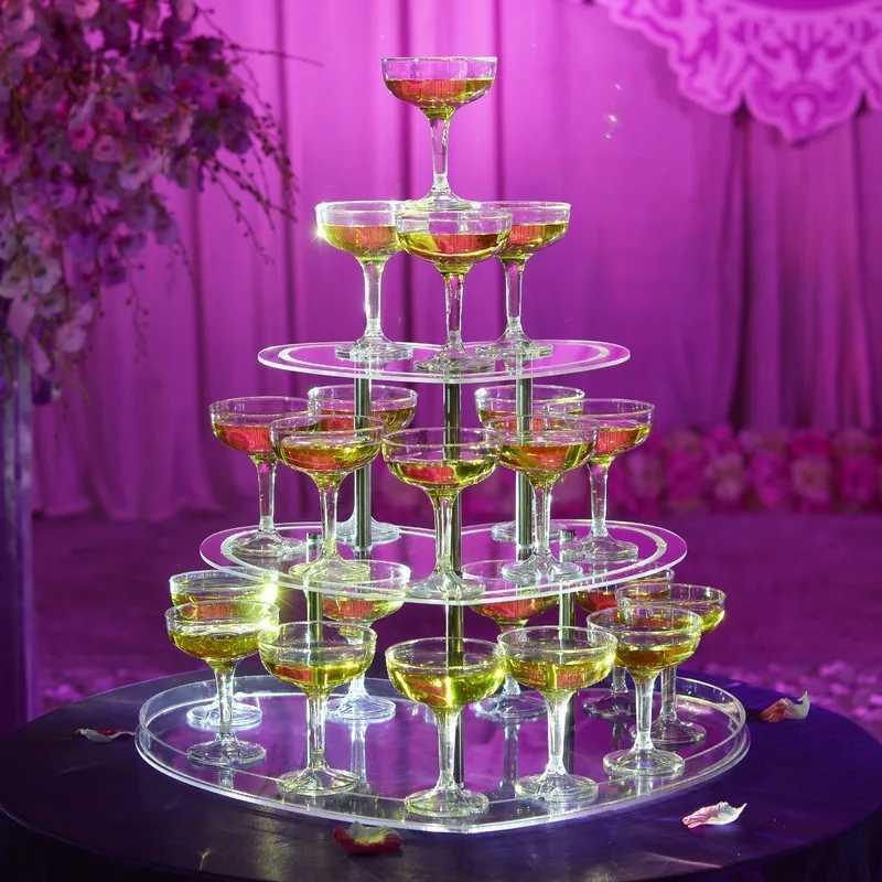 3段 ハート型 シャンパンタワー グラス 30個 セット トランプタワー シャンパン キャバクラ ホスト CLUB パーティー アルマンド 結婚式_画像2
