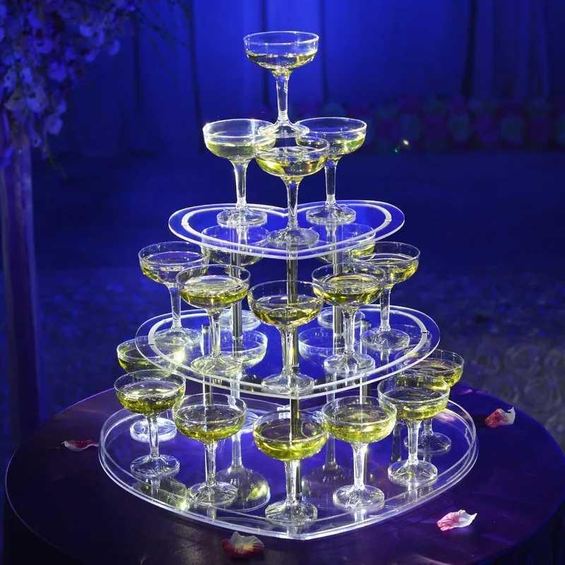 3段 ハート型 シャンパンタワー グラス 30個 セット トランプタワー シャンパン キャバクラ ホスト CLUB パーティー アルマンド 結婚式_画像1