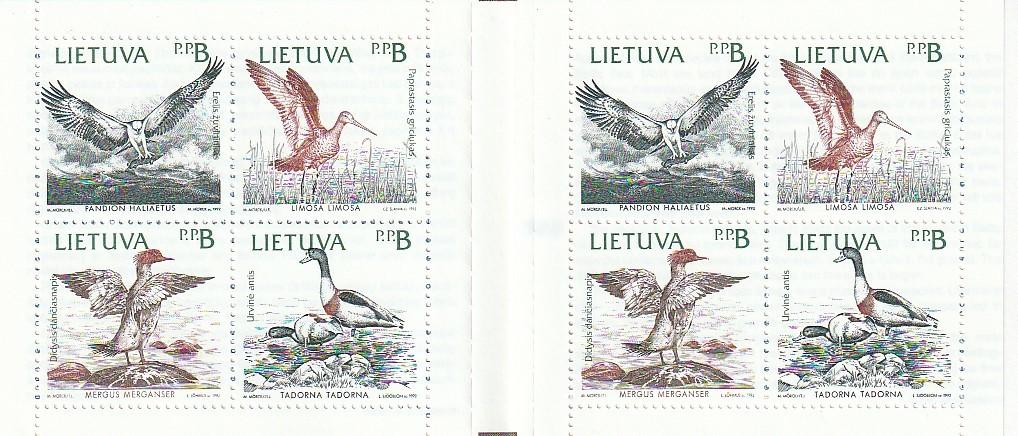 リトアニア 切手帳 未使用 外国切手_画像2