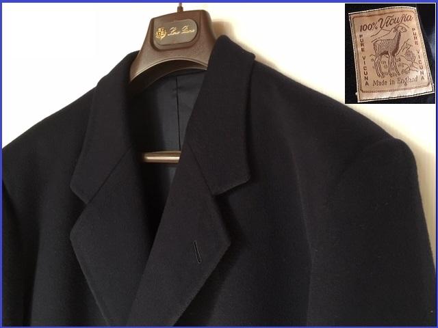 【品格】Vicuna ビキューナ100% H&S:HOLLAND&SHERRY』 (ホーランドシェリー) お仕立てコート