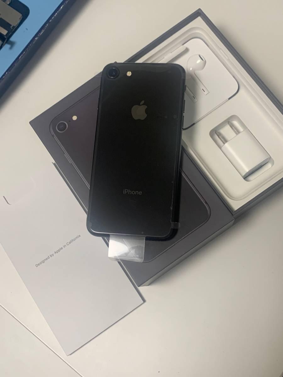 新品未使用 SIMフリー Apple iPhone8 256GB Space Grey スペースグレー 付属品全てあり バッテリー状態100% 動作確認済み_画像3