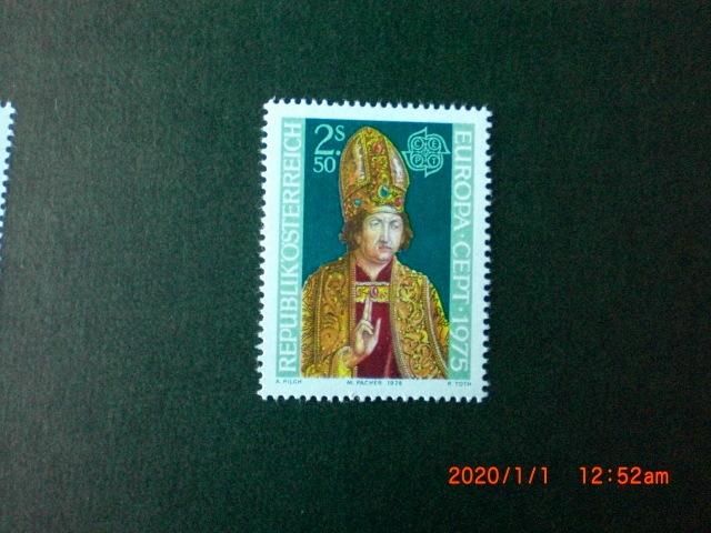 ヨーロッパ切手 ミカエル・パシャ画「高位の僧」 1種完 未使用 1975年 オーストリア共和国 VF/NH_画像1