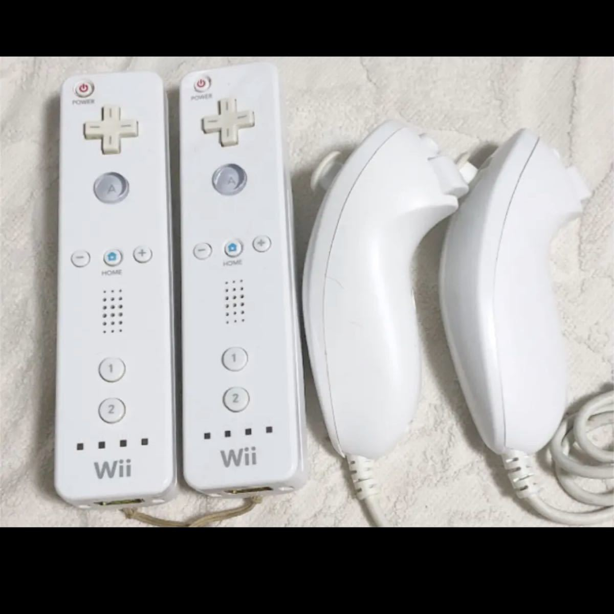 wii ウィー リモコン×2 ヌンチャク×2セット Wiiリモコン ヌンチャク Wiiリモコンプラス Wii 任天堂 マリオカート