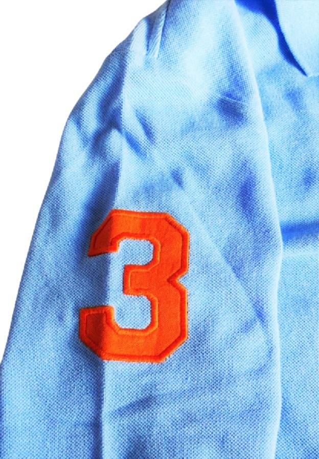 新品未着用 ポロラルフローレン正規品 長袖ビッグポニーコットンポロシャツ 水色 日本メンズM~L相当 高級アメリカンブランド_画像2