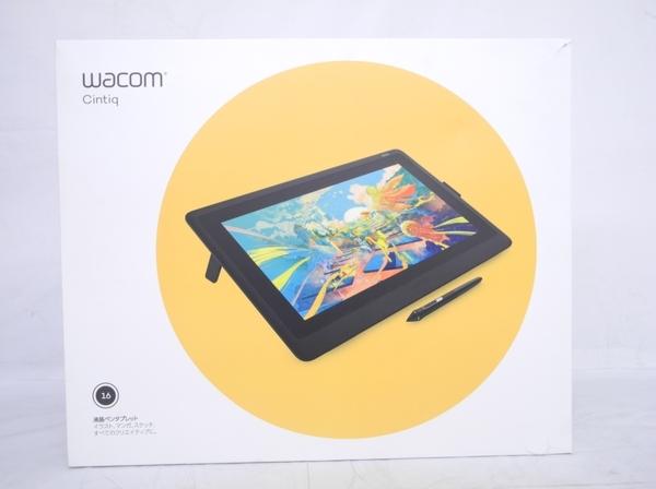 未使用 Wacom Cintiq 16 DTK-1660 DTK1660K0D 液晶ペンタブレット 液タブ 15.6型 フルHD ペンタブ N5409725_画像2