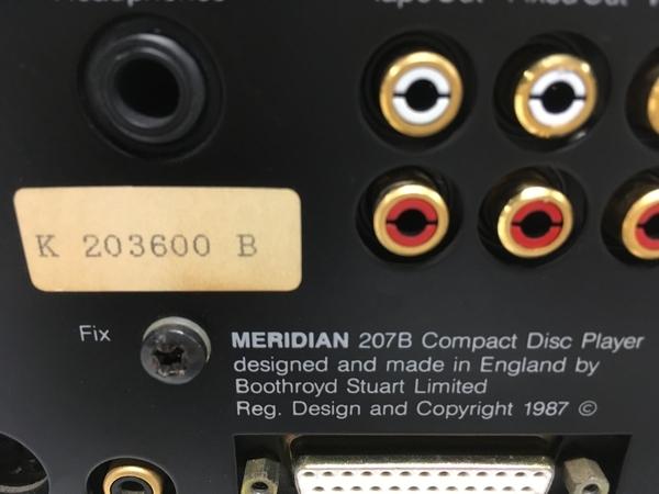 MERIDIAN メリディアン 207A / 207B セット オーディオ ジャンク F5387646_画像8