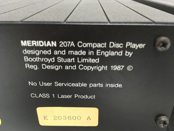MERIDIAN メリディアン 207A / 207B セット オーディオ ジャンク F5387646_画像7