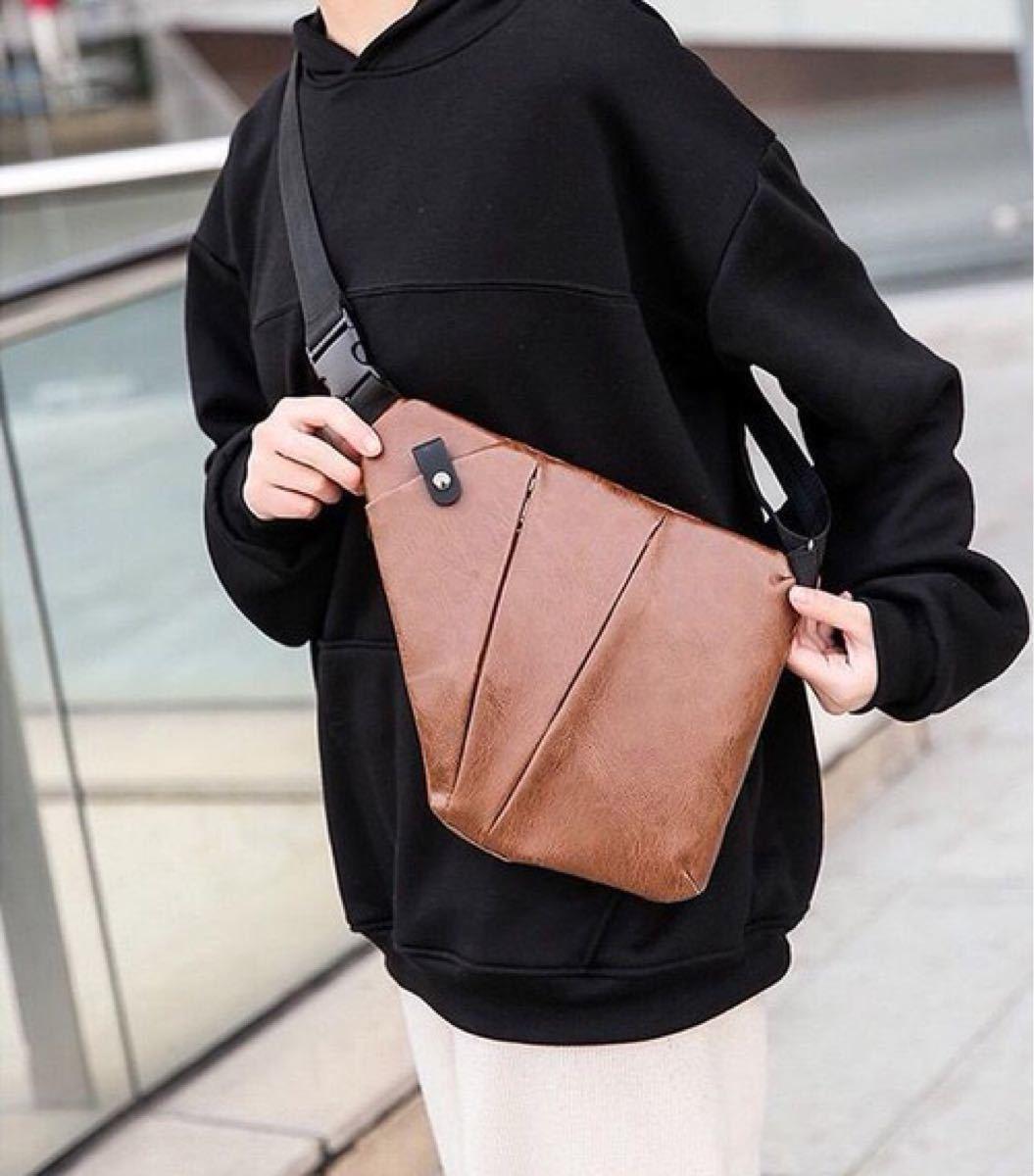 ボディバッグ ボディーバッグ ショルダーバッグ メンズ ブラウン 小物 鞄 ポケット 高品質 斜め掛けワンショルダーバッグ斜めがけ