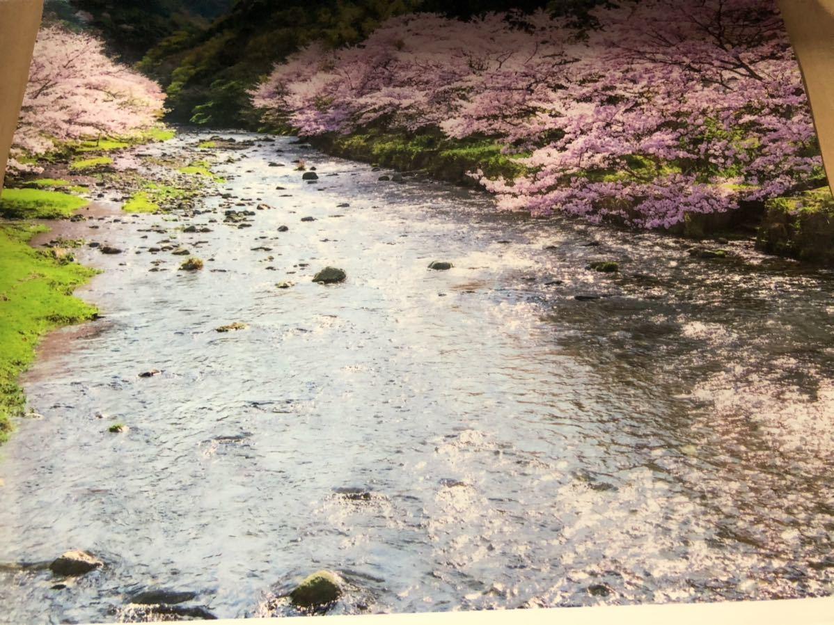 2021年 カレンダー フィルムカレンダー せせらぎの詩 企業名 壁掛けカレンダー 大判 山 川 風景 癒し 令和3年_画像2