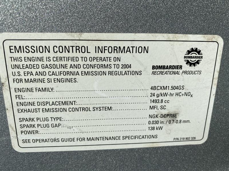 SD001 シードゥー GTX 4 TEC リミテッド ジェットスキー ボート 船体 ◆引き取り限定★即決★_画像8