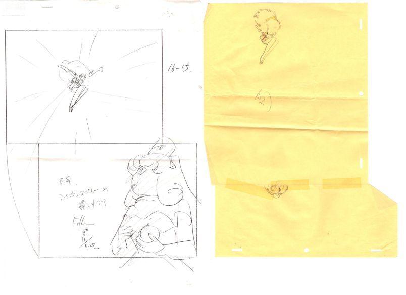 セーラームーン 3カット以上 大量 原画セット      ♯ セル画 レイアウト イラスト 設定資料 アンティーク_画像3