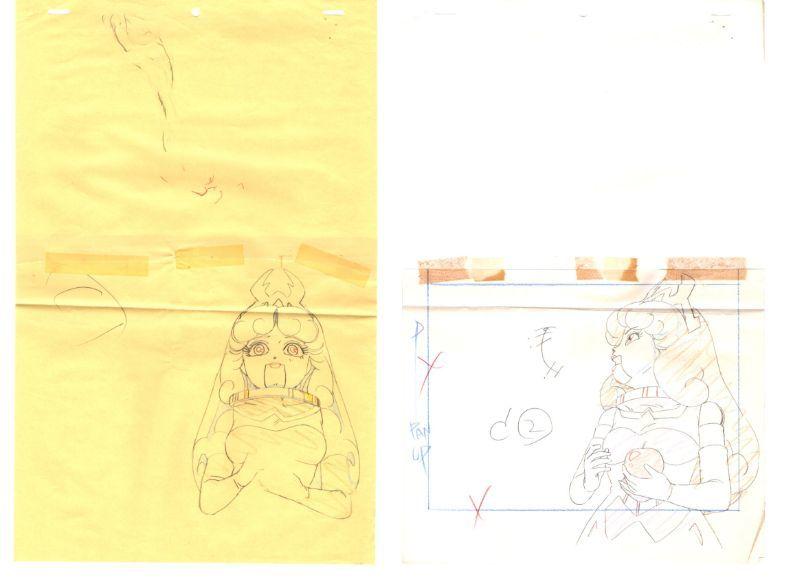 セーラームーン 3カット以上 大量 原画セット      ♯ セル画 レイアウト イラスト 設定資料 アンティーク_画像5