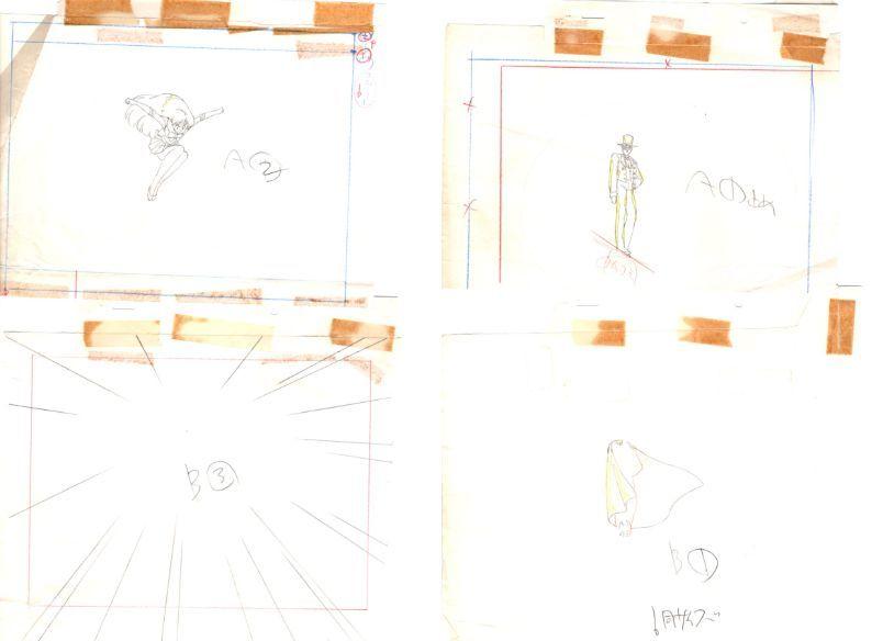 セーラームーン 3カット以上 大量 原画セット      ♯ セル画 レイアウト イラスト 設定資料 アンティーク_画像6
