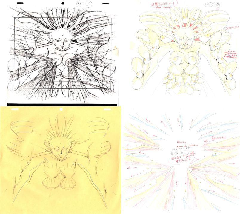 セーラームーン 3カット以上 大量 原画セット      ♯ セル画 レイアウト イラスト 設定資料 アンティーク_画像2