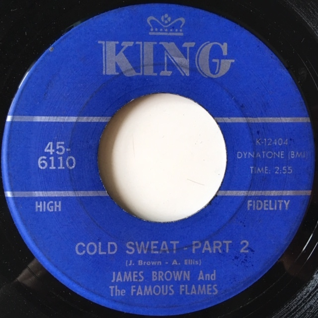 "7""/Soul/Funk/James Brown And The Famous Flames - Cold Sweat/サンプリングソース"