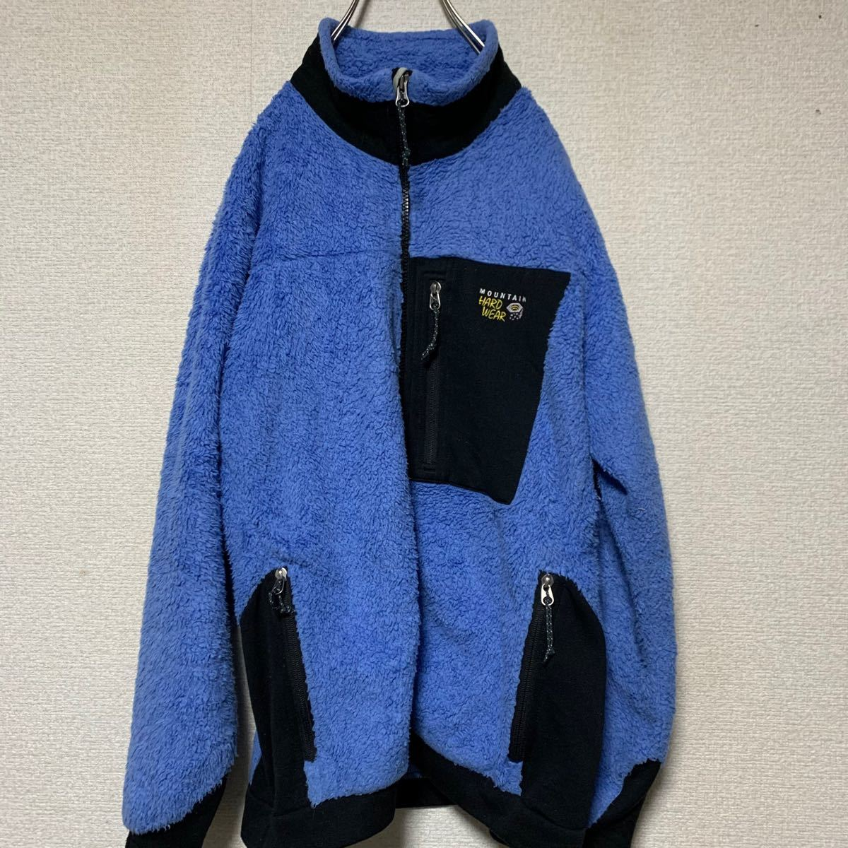 【90s】hard wear ハードウェア 水色 フリース  パタゴニア パタゴニア フリース レトロ フリースジャケット