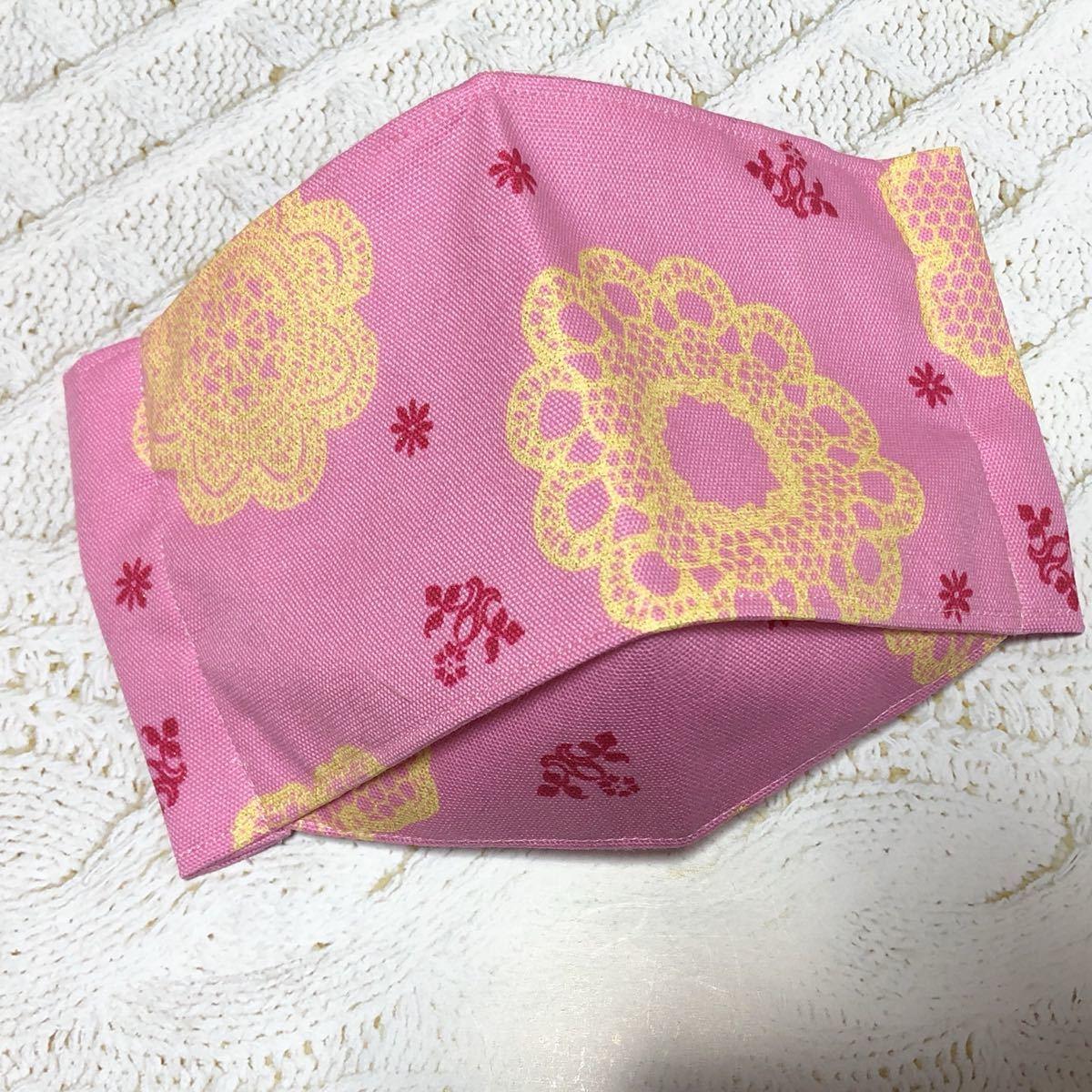 ハンドメイド 3D立体インナー 花柄ピンク