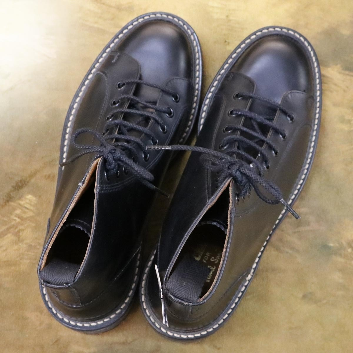 本物 極上品 トリッカーズ 別注品 ポールスミス レースアップ DERBY レザーブーツ ブラック 紳士靴 スニーカー Tricker's_画像8