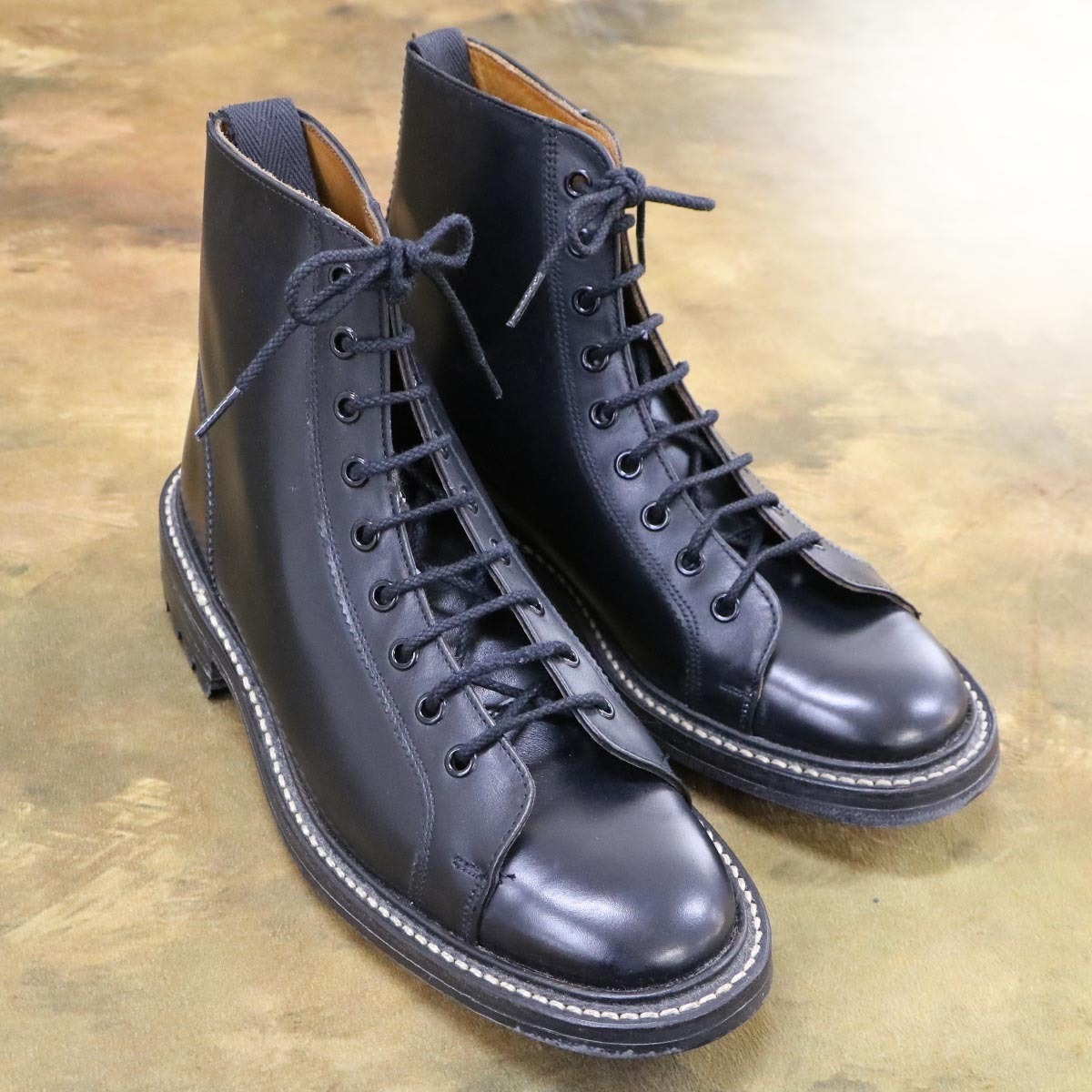 本物 極上品 トリッカーズ 別注品 ポールスミス レースアップ DERBY レザーブーツ ブラック 紳士靴 スニーカー Tricker's_画像2