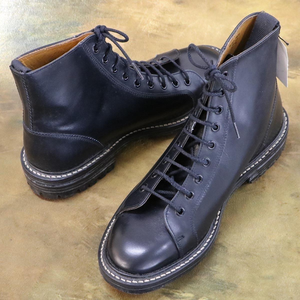 本物 極上品 トリッカーズ 別注品 ポールスミス レースアップ DERBY レザーブーツ ブラック 紳士靴 スニーカー Tricker's_画像6
