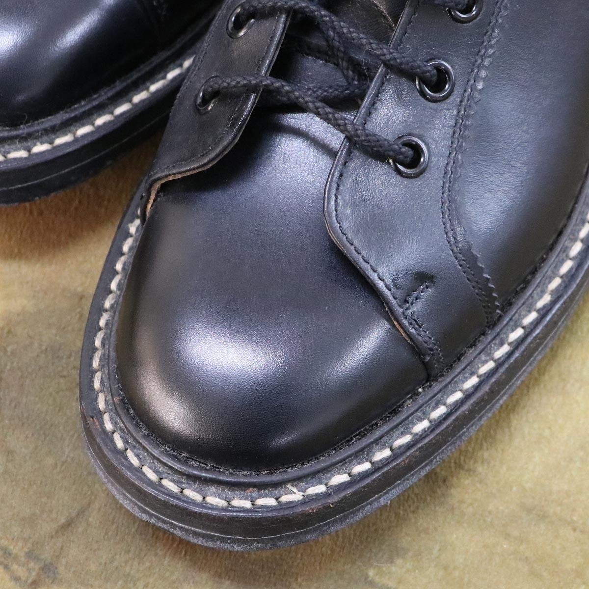 本物 極上品 トリッカーズ 別注品 ポールスミス レースアップ DERBY レザーブーツ ブラック 紳士靴 スニーカー Tricker's_画像5