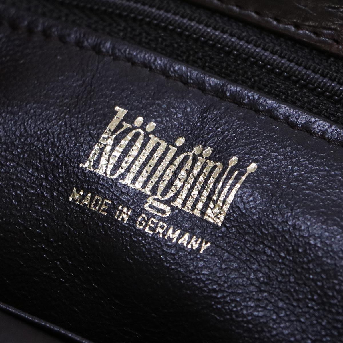 本物 極上品 クーニギン 最高級マットクロコダイルレザートートバッグ 総ワニ革 クロコレザーショルダーバッグ 袋 冊子付 KONIGIN_画像9