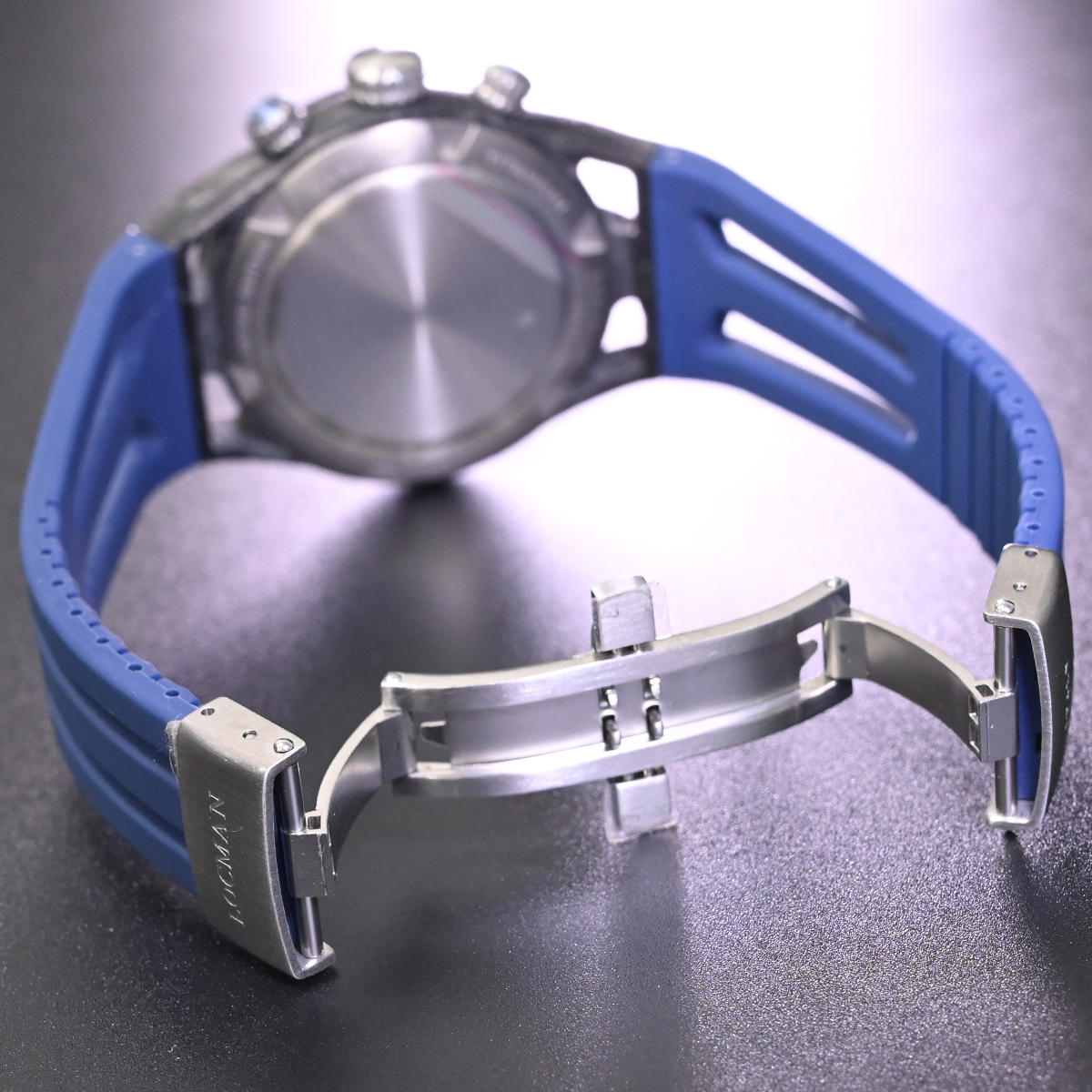 本物 新品 ロックマン 極希少 フォージドカーボン MONTECRISTO CARBON クロノグラフ メンズウォッチ 男性用腕時計 元箱 冊子付 LOCMAN_画像7
