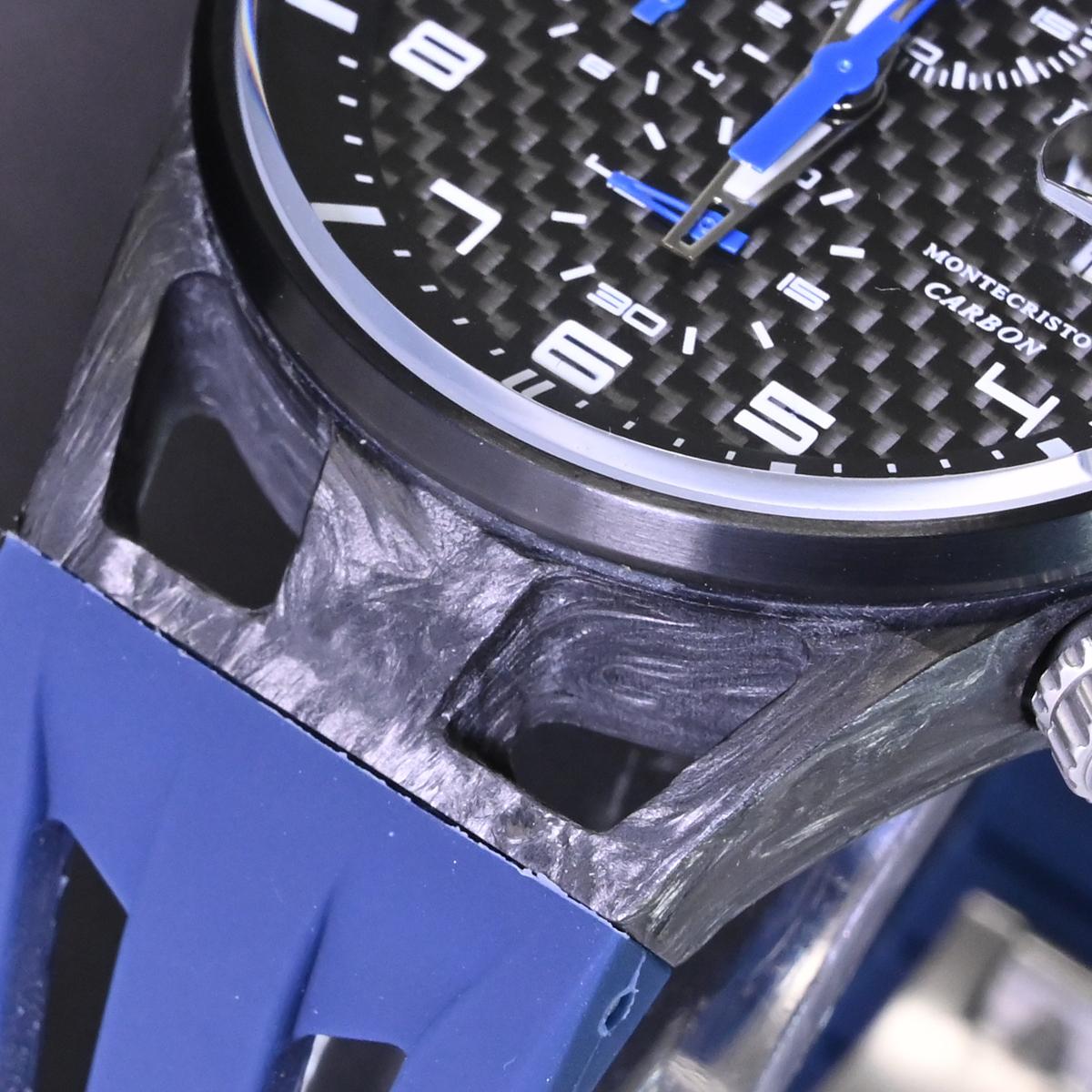 本物 新品 ロックマン 極希少 フォージドカーボン MONTECRISTO CARBON クロノグラフ メンズウォッチ 男性用腕時計 元箱 冊子付 LOCMAN_画像6