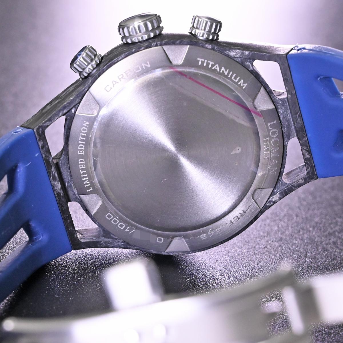 本物 新品 ロックマン 極希少 フォージドカーボン MONTECRISTO CARBON クロノグラフ メンズウォッチ 男性用腕時計 元箱 冊子付 LOCMAN_画像8