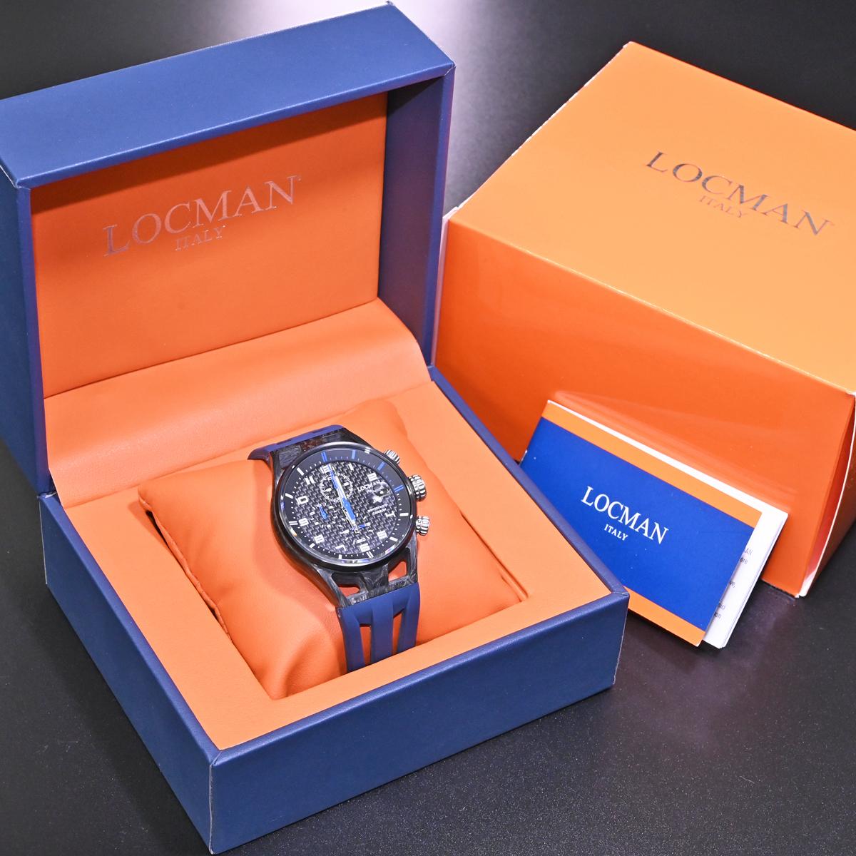 本物 新品 ロックマン 極希少 フォージドカーボン MONTECRISTO CARBON クロノグラフ メンズウォッチ 男性用腕時計 元箱 冊子付 LOCMAN_画像10