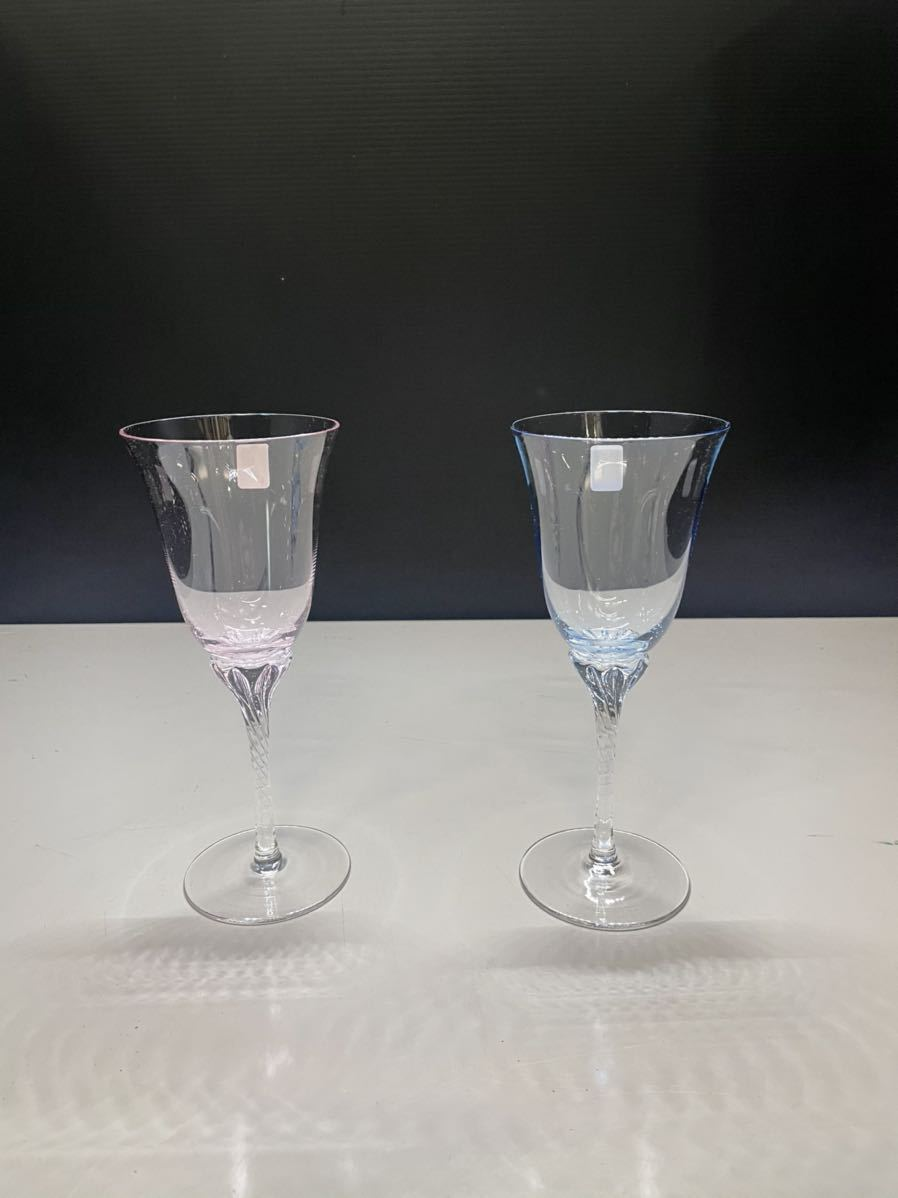 最終値下げ ササキクリスタル ワイングラス CRYSTAL ペア クリスタル 2客 日本製 箱無し_画像3