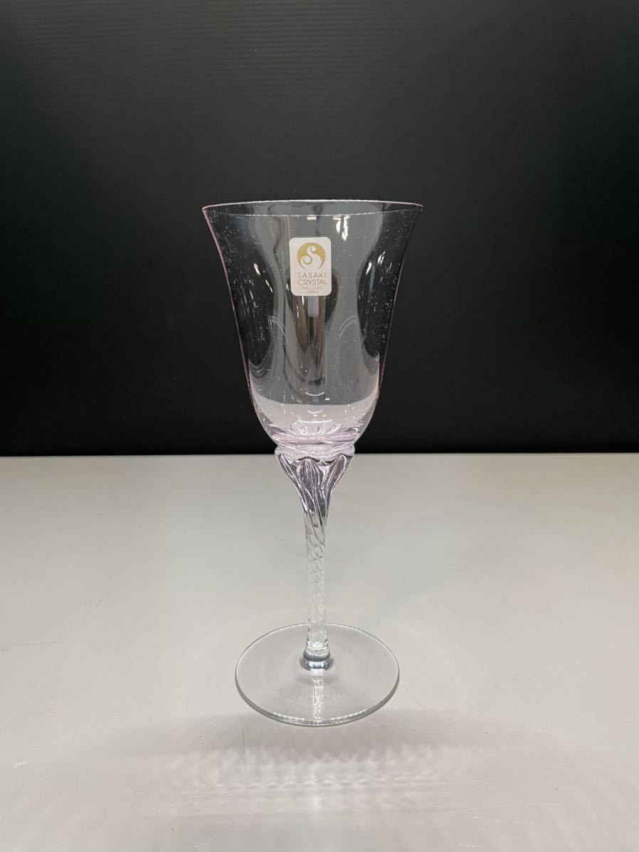 最終値下げ ササキクリスタル ワイングラス CRYSTAL ペア クリスタル 2客 日本製 箱無し_画像7