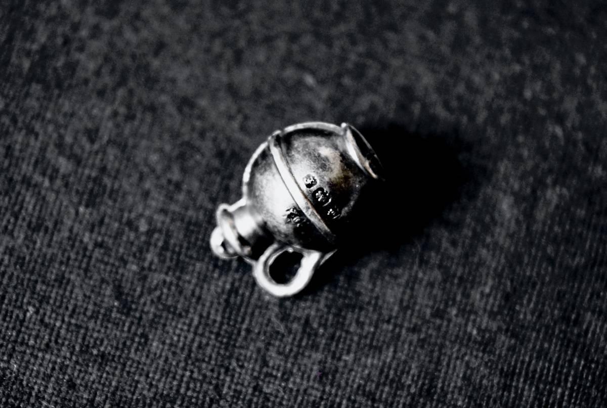 1905年 英国 JC製 純銀チャーム 全刻印 極希良品 シルバー 懐中時計チェーン 鎖 フォブ ペンダント ブレスレット ヌーヴォー アンティーク_明瞭な全刻印 『錨 / ライオン / f / JC』