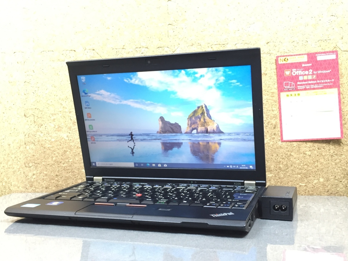 Windows10/office搭載/Webカメラ搭載!ビデオ通話対応【Lenovo レノボ/Thinkpad E220】Core i5-2520M/メモリ4GB/新品SSD120GB_画像1