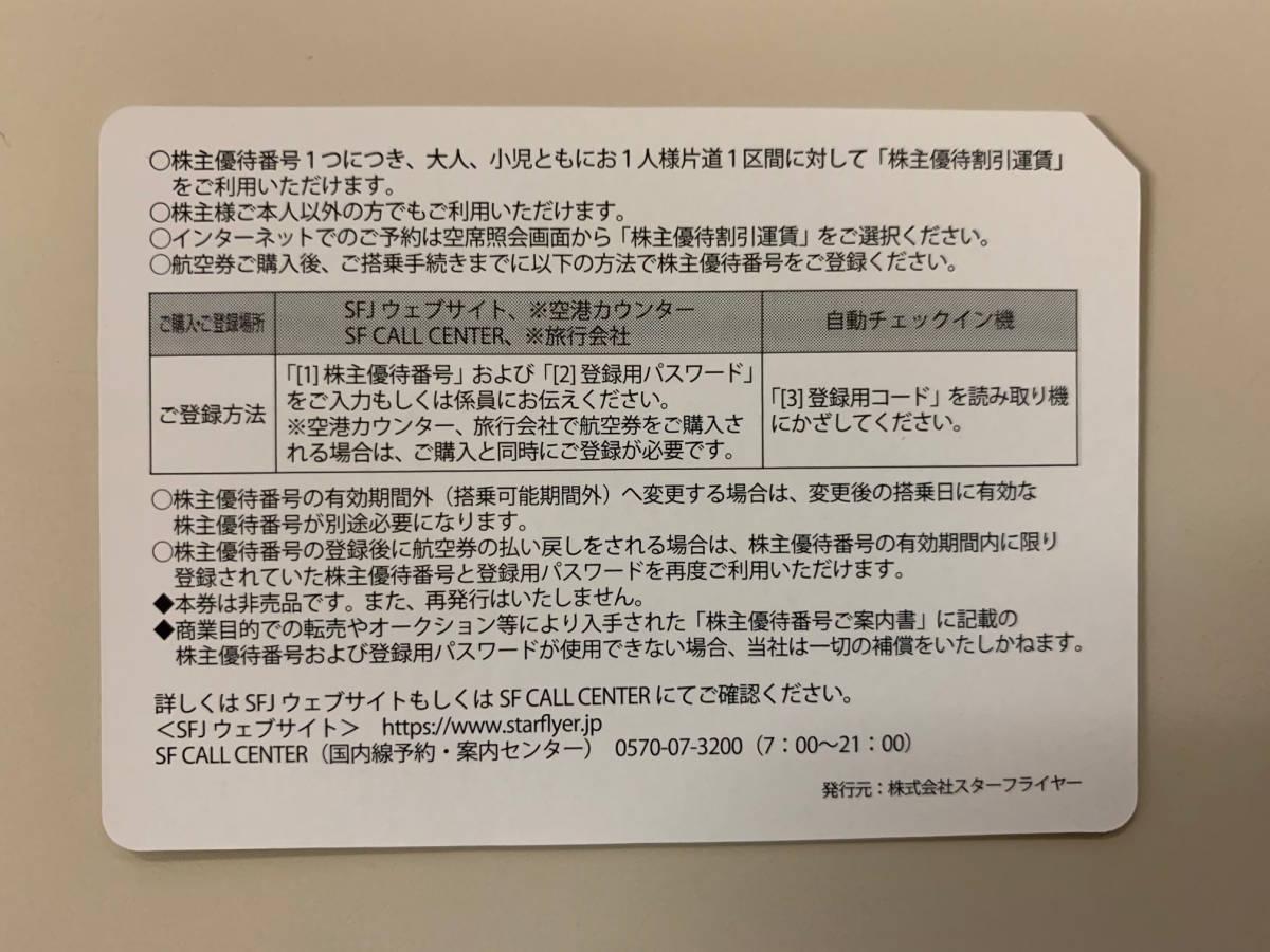 SFJ スターフライヤー株主優待券 10枚セット(2021年5月31日まで)送料無料_画像2