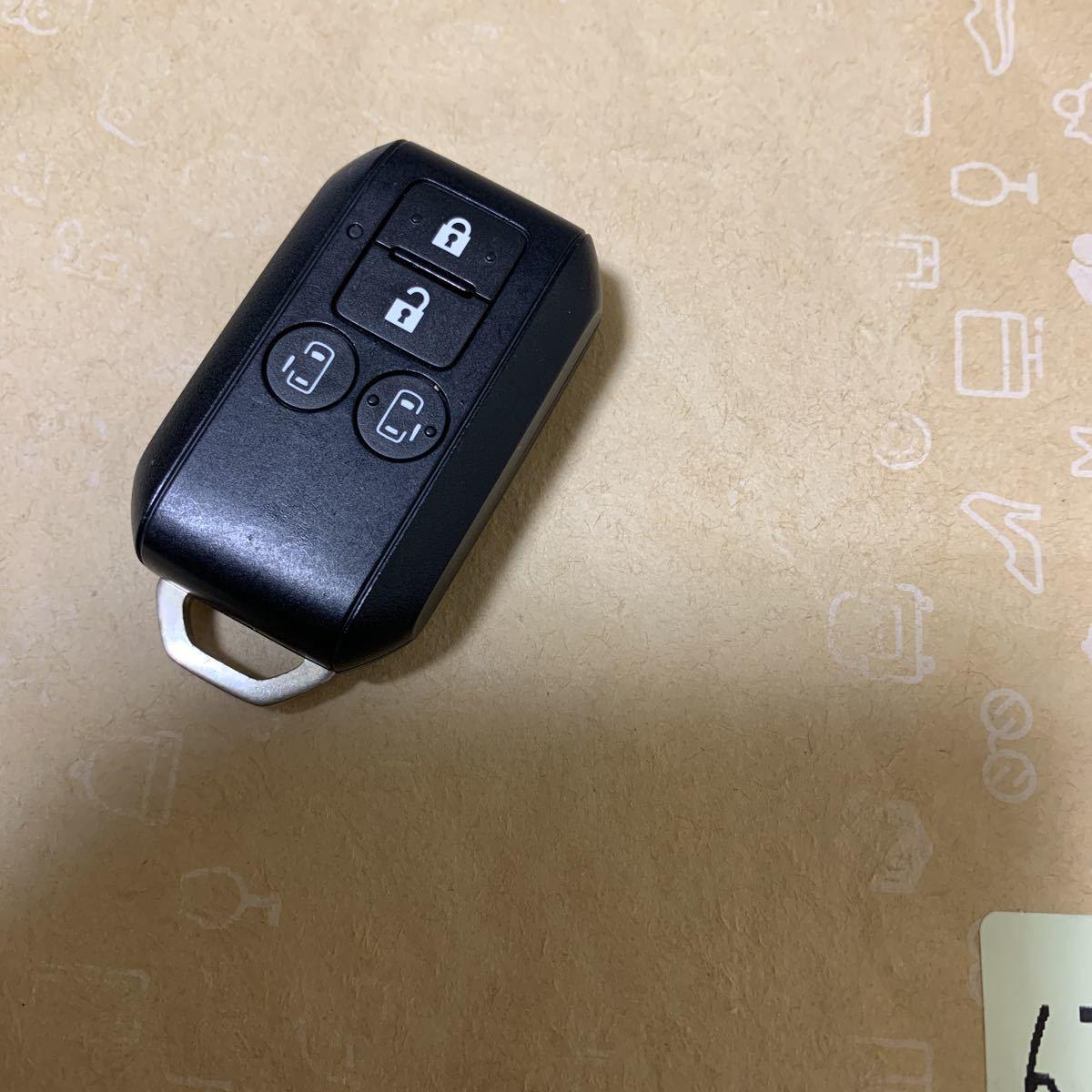 送料無料☆スズキ純正 スペーシア MK42S スマートキー キーレス 4ボタン 両側スライド フレアワゴン等 007-AA0080 1_画像2