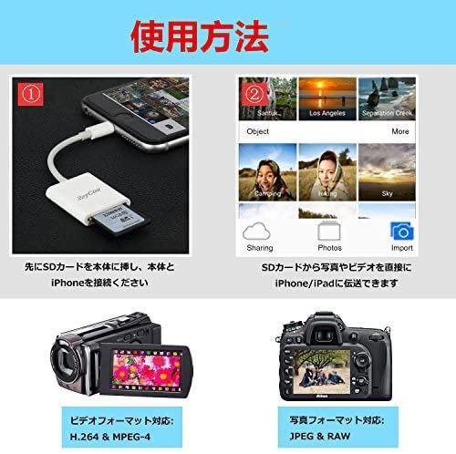 SDカードリーダー Lightning iOS専用 (ホワイト) iphone