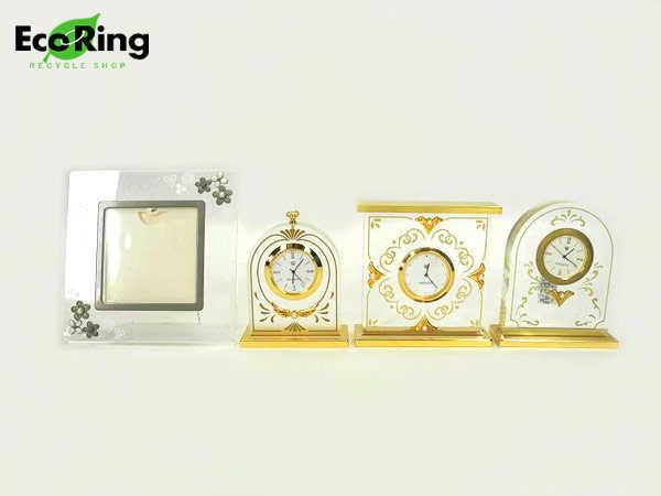 ●1円 美品有り ミキモト フォトフレーム 置時計 計4点セット AI406