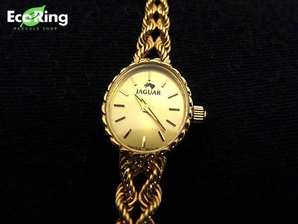 1円 ジャンク品 ジャガー 241333 クオーツ 750YG レディース腕時計 EV097_画像1