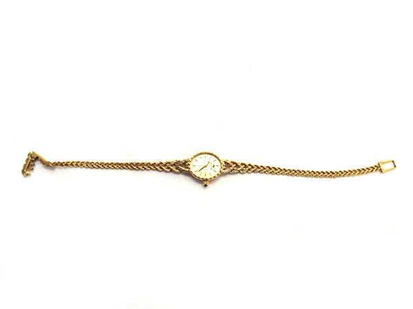1円 ジャンク品 ジャガー 241333 クオーツ 750YG レディース腕時計 EV097_画像2