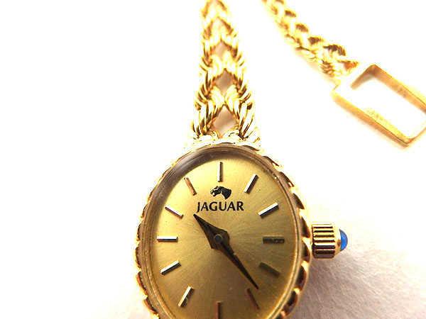 1円 ジャンク品 ジャガー 241333 クオーツ 750YG レディース腕時計 EV097_画像5